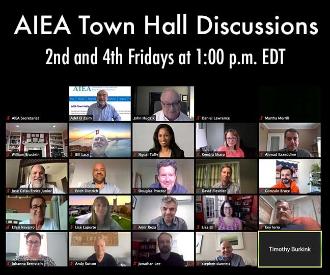Town Hall Conversations: 2nd and 4th Fridays at 1:00 PM EDT - image of zoom meeting with participants