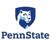 Penn State Logo - panther on blue background on a shield