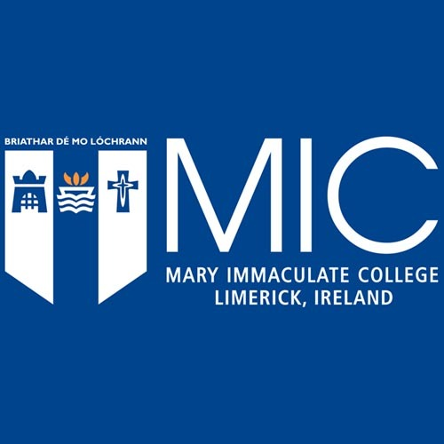 Mary Immaculate College Limerick Ireland on blue background