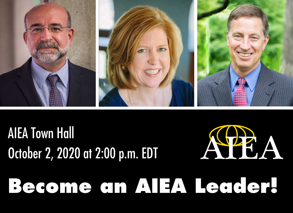 October 2, 2020 AIEA Town Hall: Become an AIEA Leader