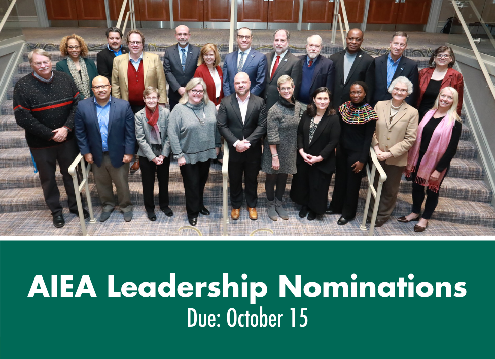 AIEA Leadership Nominations—Due October 15