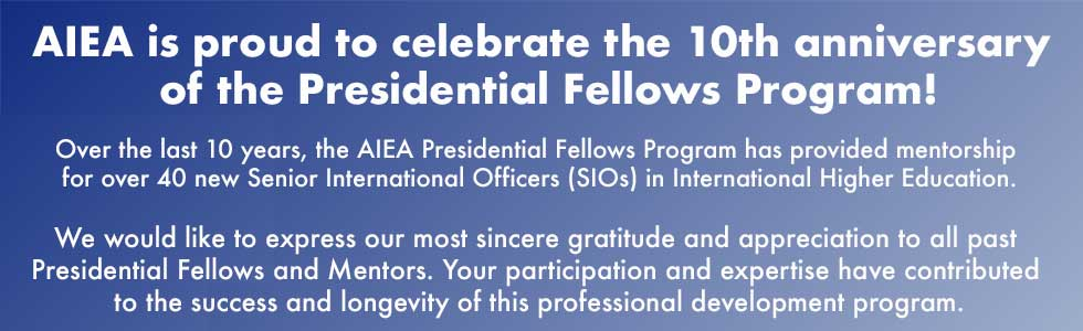 Celebrating 10 years of AIEA Presidential FEllows